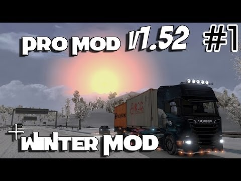 Euro Truck Simulator 2 - ProMod 1.52 & Winter Mod v3.0