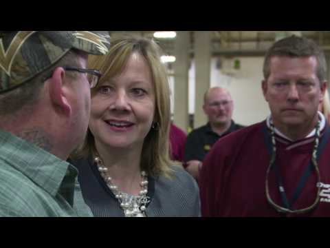 GM CEO Mary Barra Tours the Fairfax Assembly Plant in Kansas