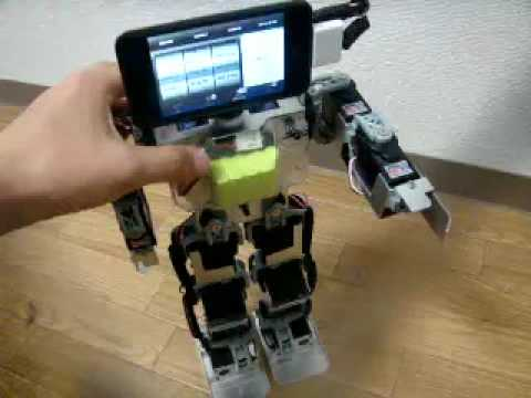 Humanoid Robot (KHR-2HV) with iPhone (iPod touch) Head