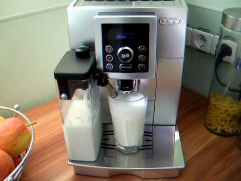 zubereitung eines latte macchiato mit der delonghi ecam. Black Bedroom Furniture Sets. Home Design Ideas