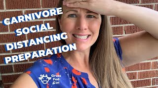 Carnivore Diet Corona Virus Covid-19 Preparation Grocery and Supply Haul Social Distancing