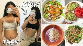 WHAT I EAT IN A DAY TO LOSE WEIGHT (on the chloe ting challenge)