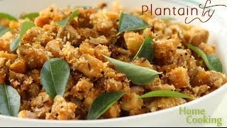 Plantain fry (Vazhakkai poriyal) | Ventuno Home Cooking