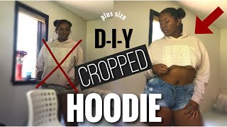 DIY CROPPED HOODIE |dabestess