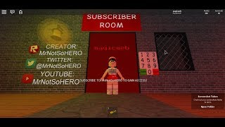 MrNotSoHERO's subscriber code in The Scary Elevator| (2018)