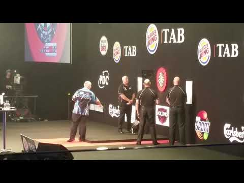 Phil Taylor vs corey cadby - towel incident