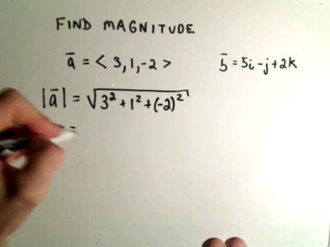 Vectors - Finding Magnitude or Length