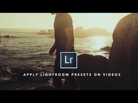 Apply Lightroom Presets on VIDEOS | Lightroom Tutorial 📷