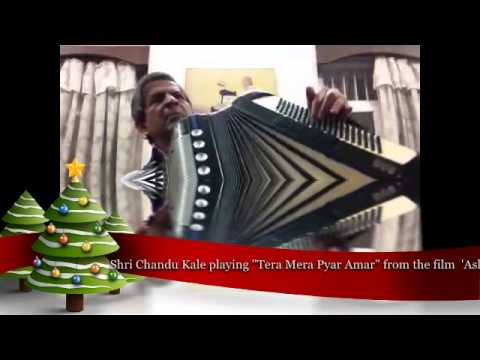 tera mera pyar amar.tribute by Chandu Kale on accordion
