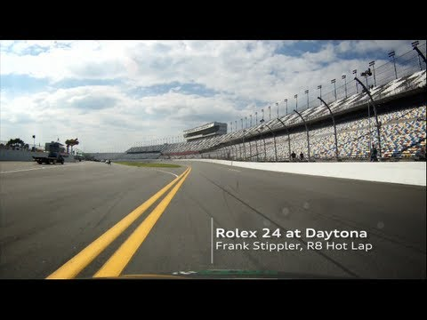 2013 Rolex 24 at Daytona: Audi Driver Frank Stippler Hot Lap