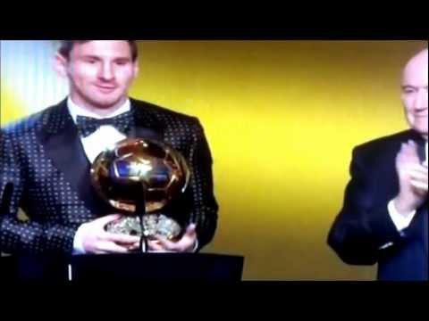 Lionel Messi gana por 4ta vez el Balón de Oro 2012