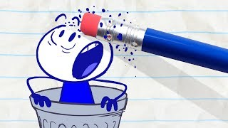 Pencilmate Gets Trashed! -in- ONE MAN'S TRASH IS ANOTHER MAN - Pencilmation Cartoons for Kids