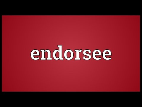 Header of endorsee