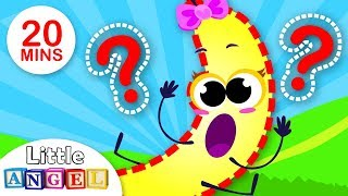 Where's Baby Banana? Baby Apple Looks for his Friend   Fruits and Veggies for Kids   By Little Angel