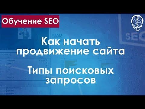 SEO продвижение / Как начать продвижение сайта / Типы поисковых запросов / обучение SEO