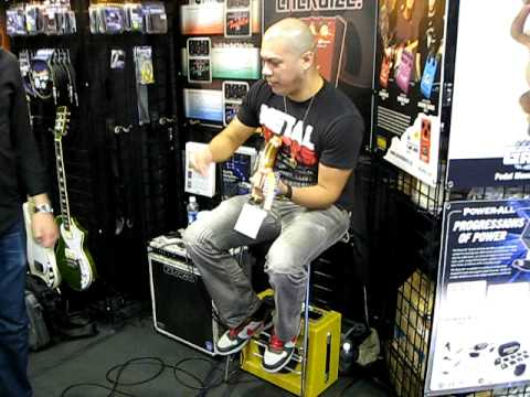 God Forbid Guitarist Doc Coyle (1) Guitar Effects Pedals Godlyke NAMM 2011