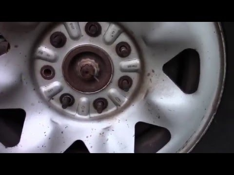 How-to Replace Broken Wheel Stud 1997 Ford F250 4x4 5.4L V8