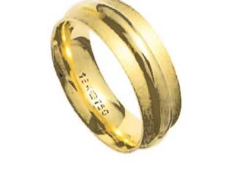 Alianças de Ouro Amarelo 18k 0750, Alianças de Casamento, Alianças de Noivado, Alianças de Bodas