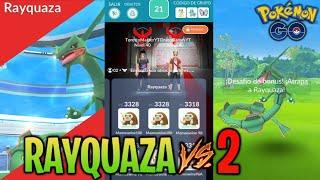 RAYQYUAZA VS 2 JUGADORES ¿EL RETO MÁS FÁCIL? + NOTICIAS & FILTRACIONES !! - Pokemon Go