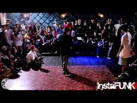InstaFUNK x LockCity HongKong 2014 - Kobe LEUNG (4 in Funk) vs Popping Angus - Popping Best 16