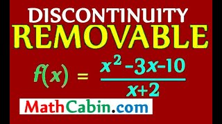 🚧Removal of Function Discontinuity example (calculus continuity problems)