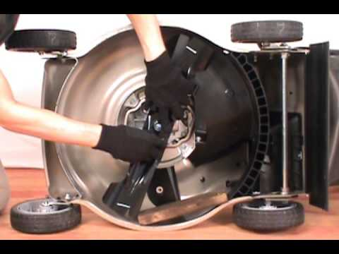 replacing  blades honda lawn mower youtube