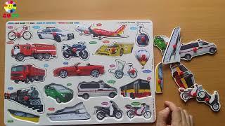 Đồ chơi ghép hình phương tiện giao thông giúp bé tư duy hiểu ý nghĩa về từng phương tiện