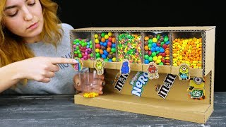 Smart Girl Shows How to Build Candy Dispenser