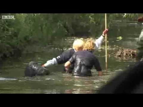 Boris Johnson Falls Into River