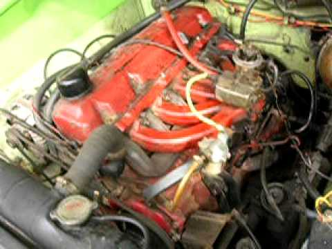 Motor slant six dodge 225 ( Chile) - YouTube