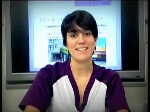 Fisioterapeuta Cristina Sánchez. Ergonomía en la oficina, educación postural.