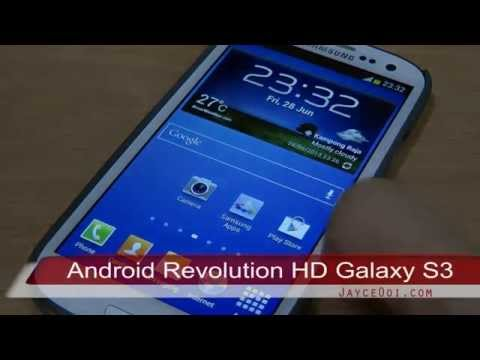 Android Revolution HD for Samsung Galaxy S3 32.0 (XXUFME7 Firmware)