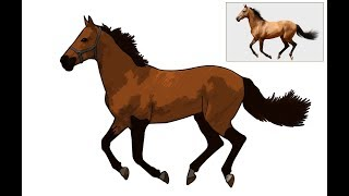 Photoshop Tutorial: Cartoon Effect On Horse portrait |  Cartoon Effect Photoshop | Pen Tool