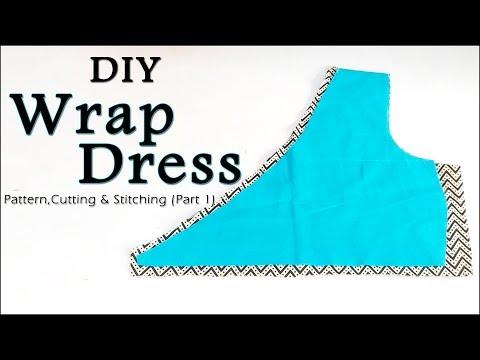 DIY Wrap Dress   How to make Wrap Dress (Easy Way Step by Step Method)
