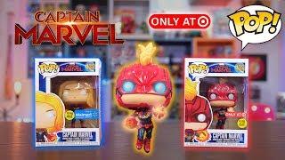 Captain Marvel Funko Pop Target & Walmart Glow Exclusive Review!