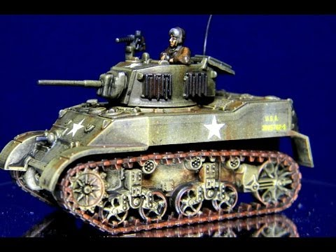 How to Paint 15mm US Stuart Tanks for Flames of War