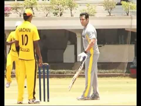 Salman Khan plays Cricket for Charity Part 1