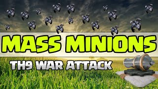 Clash of Clans: MASS MINIONS FOR THE WIN AT TH9!