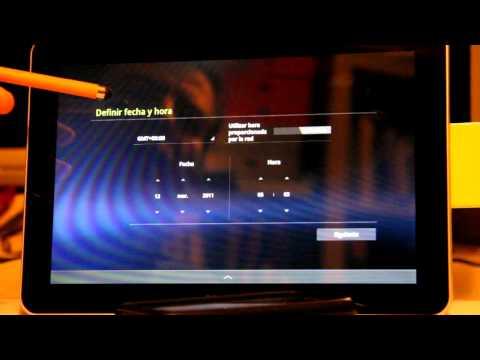 Encendido por primera vez. Tablet Samsung Galaxy Tab 10.1