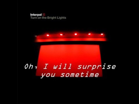 Interpol - Untitled [ Music & Lyrics ]