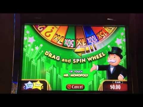 Super Monopoly Slot Machine Bonus Wheel Spin Big Win
