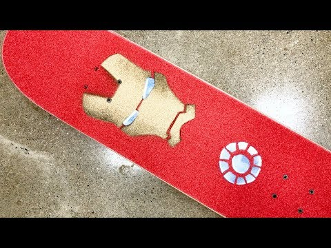 The Iron Man Skateboard Setup! / RAD GRIPTAPE ART!