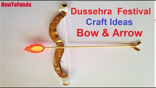 bow and arrow making with cardboard for kids at home easily | dussehra  festival special | diy craft