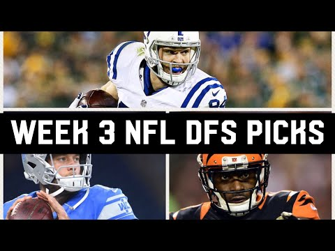 WEEK 3 NFL DRAFTKINGS PICKS / ANOTHER GIVEAWAY!! #DFSSQUAD