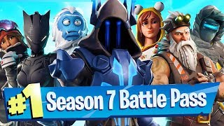 Fortnite Season 7 Battle Pass Unlocked (New Vehicle / Weapon WRAPS)