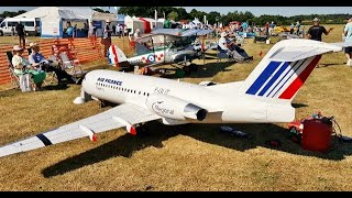 GIANT 1/5 SCALE FOKKER 70 RC AIRLINER DISPLAY - PST 130 TURBINES - LMA RAF COSFORD 100 yrs - 2018