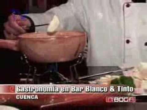 Gastronomía en bar Tinto y Blanco