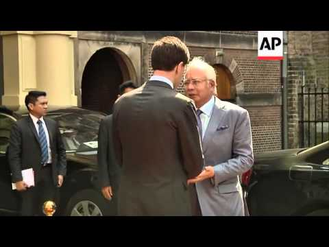 Dutch PM welcomes Malaysia's Najib Razak for discussions on MH17