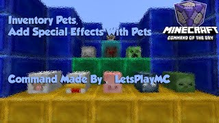 Inventory Pets Add Special Effects With Pets Minecraft Command Of The Day