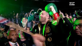 EPIC! Tyson Fury's incredible ring walk against Deontay Wilder in full